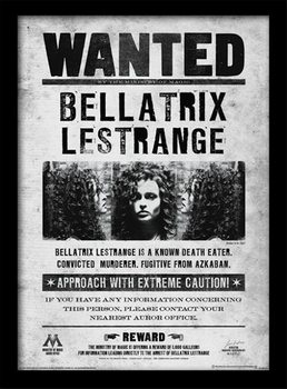 Harry Potter - Bellatrix Wanted zarámovaný plakát