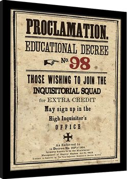 Harry Potter - Educational Decree No. 98 zarámovaný plakát