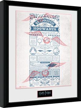 Harry Potter - Quidditch at Hogwarts zarámovaný plakát