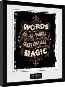 Harry Potter - Words Zarámovaný plagát