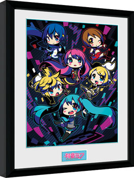 Hatsune Miku - Neon Chibi zarámovaný plakát