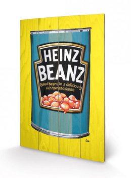 Obraz na drewnie Heinz - Beanz Can