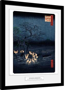 Hiroshige - New Years Eve Foxfire zarámovaný plakát
