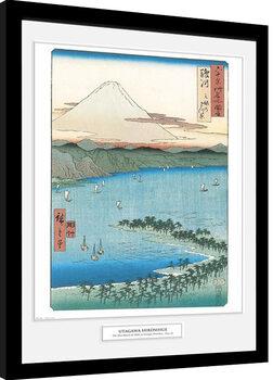 Hiroshige - The Pine Beach At Miho zarámovaný plakát