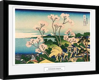 Hokusai - Goten Yama Hill zarámovaný plakát