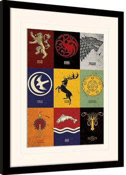 Hra o Trůny (Game of Thrones) - Sigils zarámovaný plakát