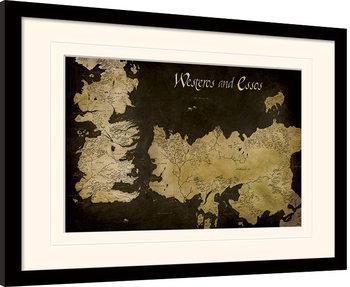 Hra o Trůny (Game of Thrones) - Westeros zarámovaný plakát