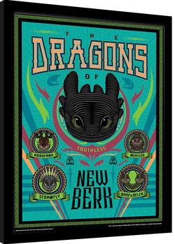 Jak vycvičit draka 3 - The Dragons Of New Berk zarámovaný plakát