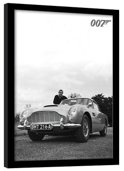 JAMES BOND 007 - connery b+w oprawiony plakat