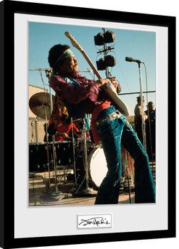 Jimi Hendrix - Live zarámovaný plakát