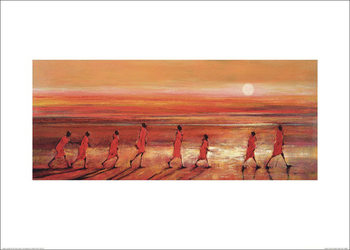 Obrazová reprodukce  Jonathan Sanders - Samburu Sunset