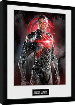 Liga spravedlivých - Cyborg Solo zarámovaný plakát