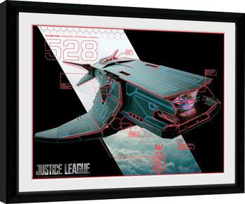 Liga spravedlivých - Flying Fox zarámovaný plakát