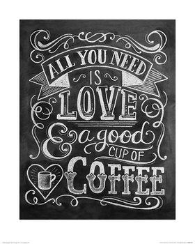 Obrazová reprodukce  Lily & Val - Coffee