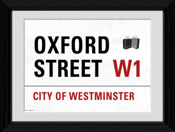 London - Oxford Street zarámovaný plakát