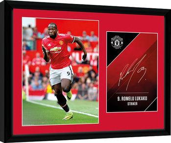 Manchester United - Lukaku 17/18 zarámovaný plakát