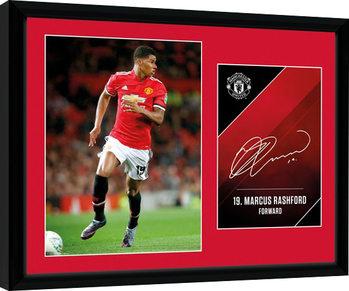 Manchester United - Rashford 17/18 zarámovaný plakát