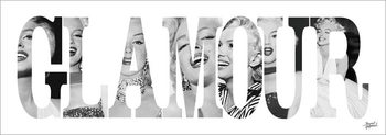 Obrazová reprodukce Marilyn Monroe - Glamour - Text