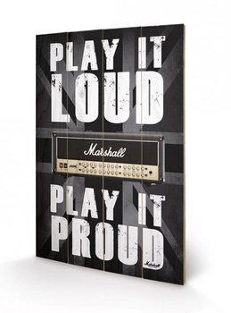 Obraz na drewnie MARSHALL - play it loud