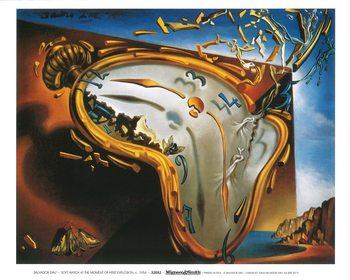 Obrazová reprodukce Měkké hodiny v okamžiku prvního výbuchu, 1954