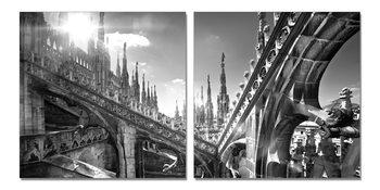 Obraz Milán - Katedrála Narození Panny Marie koláž