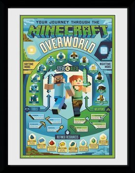 Minecraft - Owerworld Biome zarámovaný plakát