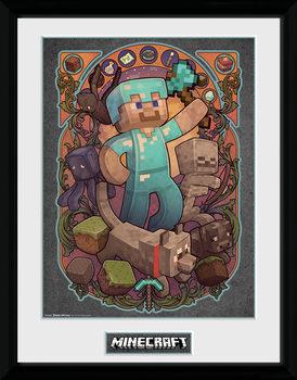 Minecraft - Steve Nouveau zarámovaný plakát