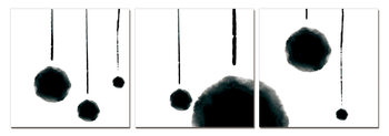 Obraz Modern Design - Hanging Balls (B&W)