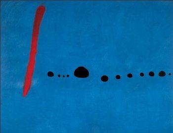 Obrazová reprodukce Modrá II