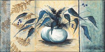 Obrazová reprodukce Modré listy