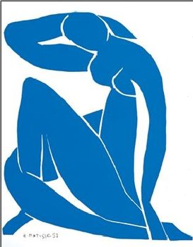 Obrazová reprodukce Modrý akt II, 1952