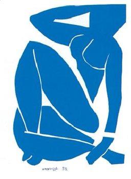 Obrazová reprodukce Modrý akt III, 1952