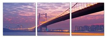 Obraz  Most při západu slunce