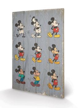 Obraz na drewnie Myszka Miki (Mickey Mouse) - Evolution