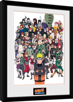 Naruto Shippuden - Group zarámovaný plakát