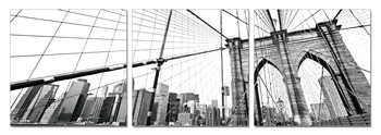 Obraz New York - Brooklyn Bridge detail (B&W)