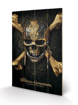 Obraz na drewnie Piraci z Karaibów - Skull