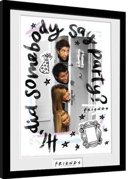 Przyjaciele - Party oprawiony plakat