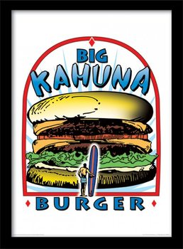 PULP FICTION - big kahuna burger oprawiony plakat