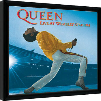 Queen - Live At Wembley Zarámovaný plagát