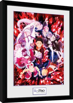 Re-Zero - Key Art zarámovaný plakát