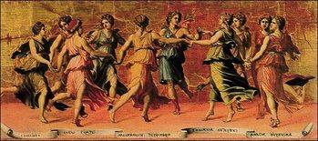 Obrazová reprodukce  Romano - Apollo E Le Muse