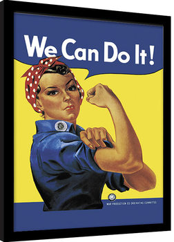 Rosie the Riveter oprawiony plakat