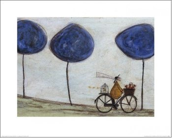 Obrazová reprodukce  Sam Toft - Freewheelin' with Joyce Greenfields and the Felix 4