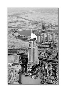 Obraz Šedý pohled na město