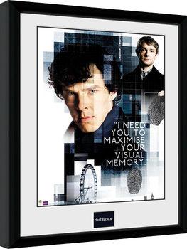 Sherlock - Memory zarámovaný plakát