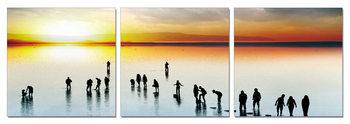 Obraz  Siluety při západu slunce