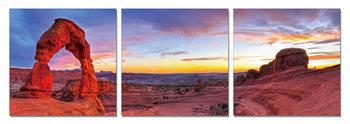 Obraz Skalní brána při západu slunce