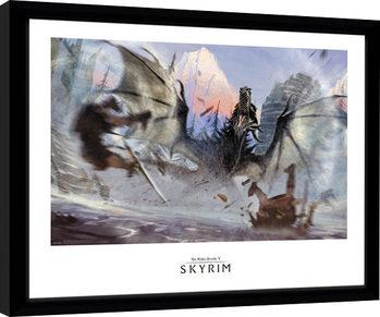 Skyrim - Alduin Zarámovaný plagát