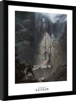Skyrim - Elf Temple Zarámovaný plagát